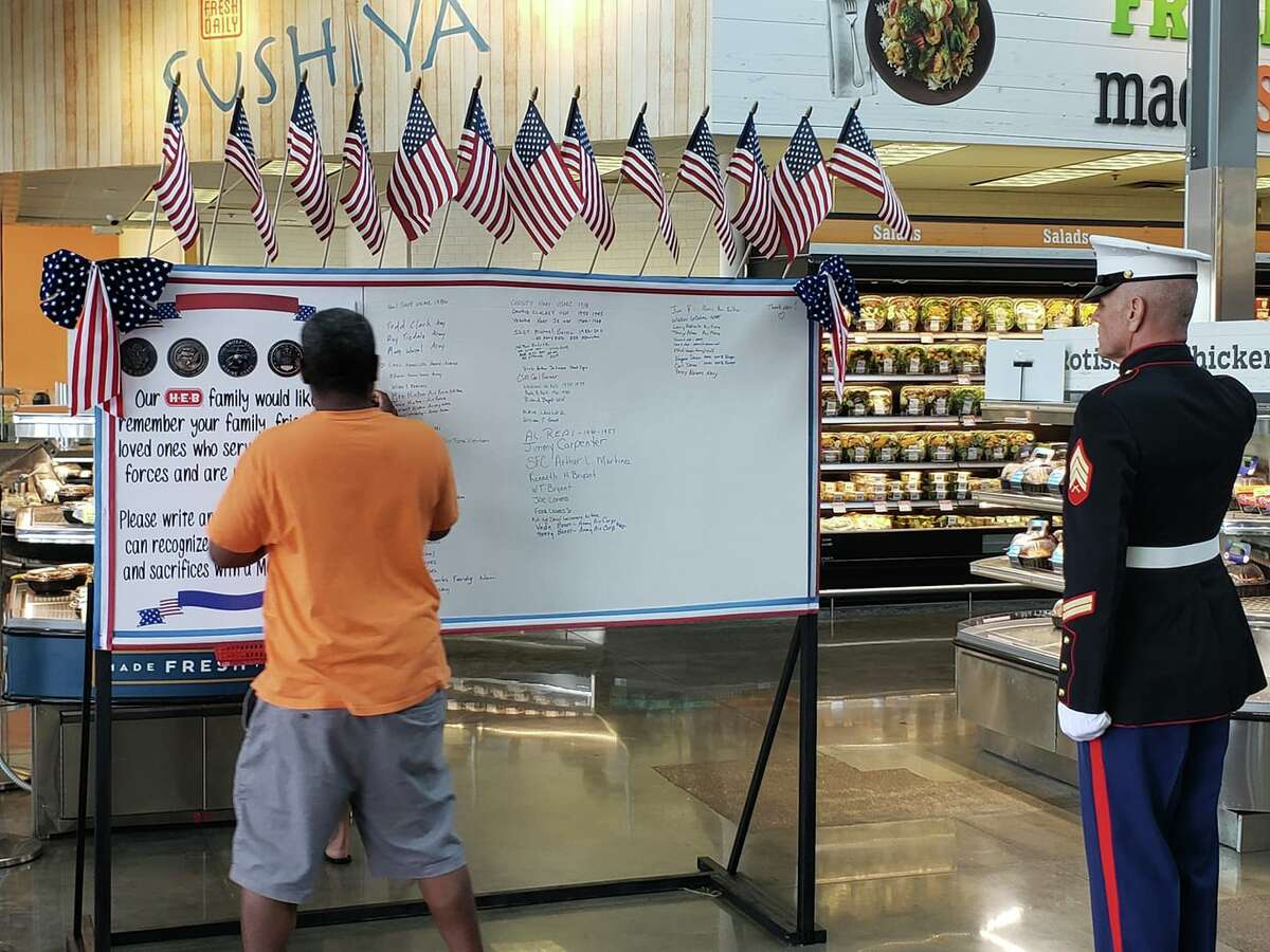On Memorial Day, Michael Rosensteel walked in his H-E-B at 250 University Blvd, Round Rock and noticed a bulletin board where customers could write the names of the loved ones they've lost while serving in the military.