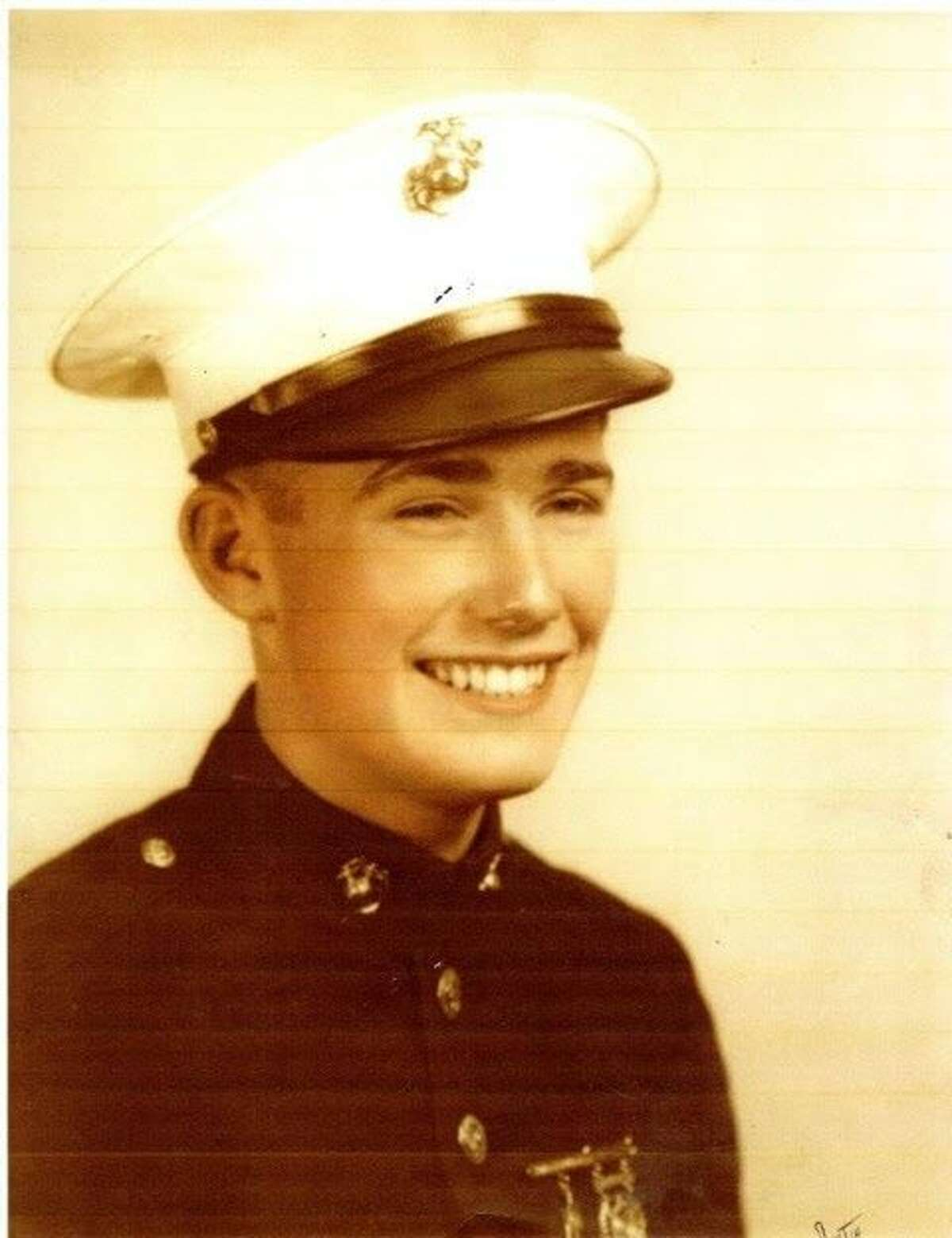 John Stevens during his boot camp graduation ceremony in 1939.