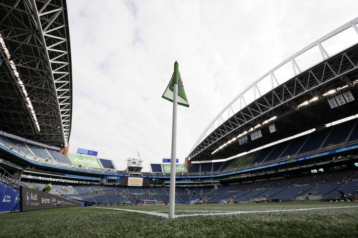 SEATTLE, WASHINGTON - MAY 30: A general view at Lumen Field before the game between Austin FC and the Seattle Sounders on May 30, 2021 in Seattle, Washington. (Photo by Steph Chambers/Getty Images)
