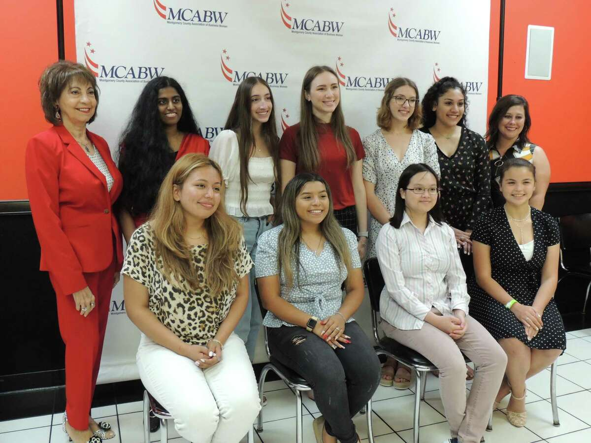 Pictured are the winners of the Montgomery County Area Business Women's 2021 Scholarship program.