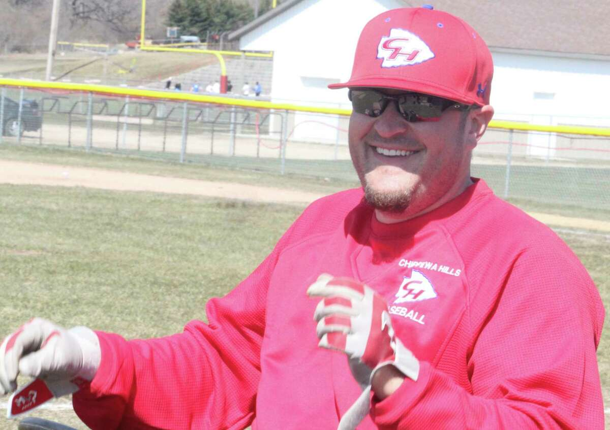 Coach Ben Wright's baseball team faces Ludington on Saturday. (Pioneer file photo)