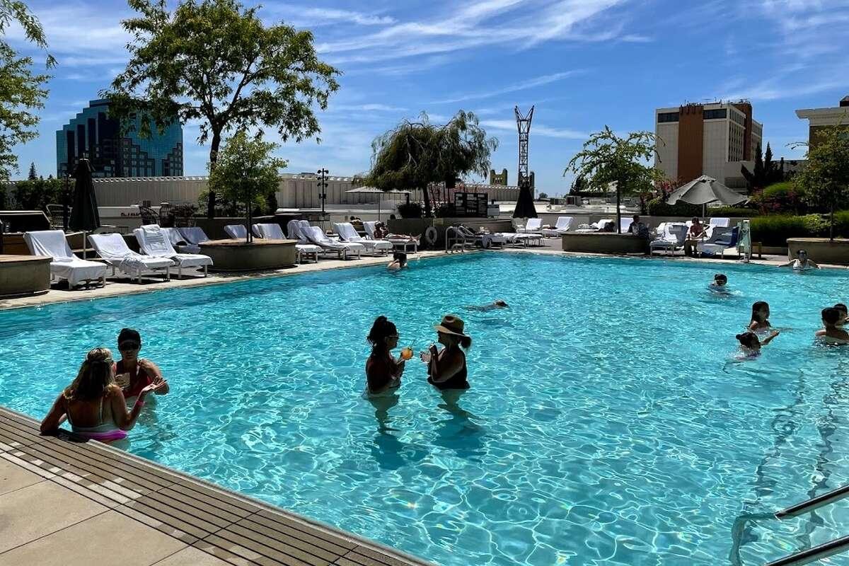 The Sawyer hotel pool, Sacramento, California.
