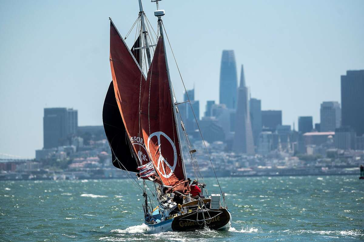 Golden Rule sails from Sausalito to Berkeley.