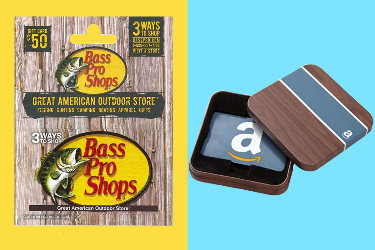 $50 Bass Pro Shops Gift Card $25 Amazon Gift Card