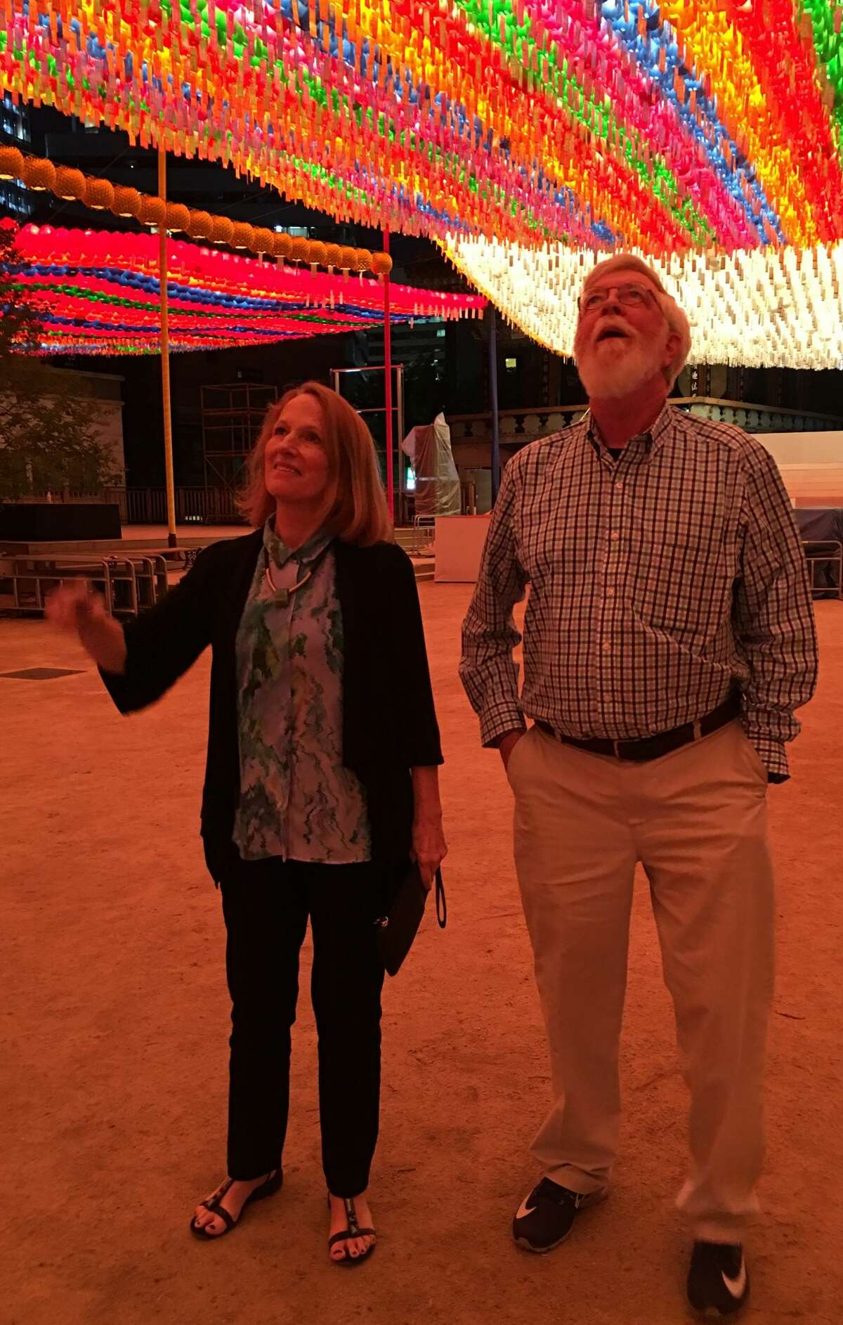 Kathryn and John Twomey in Seoul. (Provided photo.)