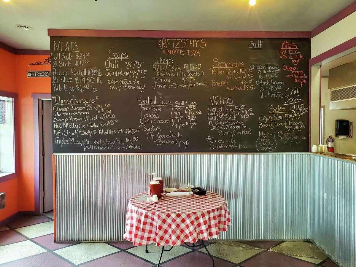 Kretzschy's offers a wide array of smokehouse favorites. (Scott Nunn/Huron Daily Tribune)