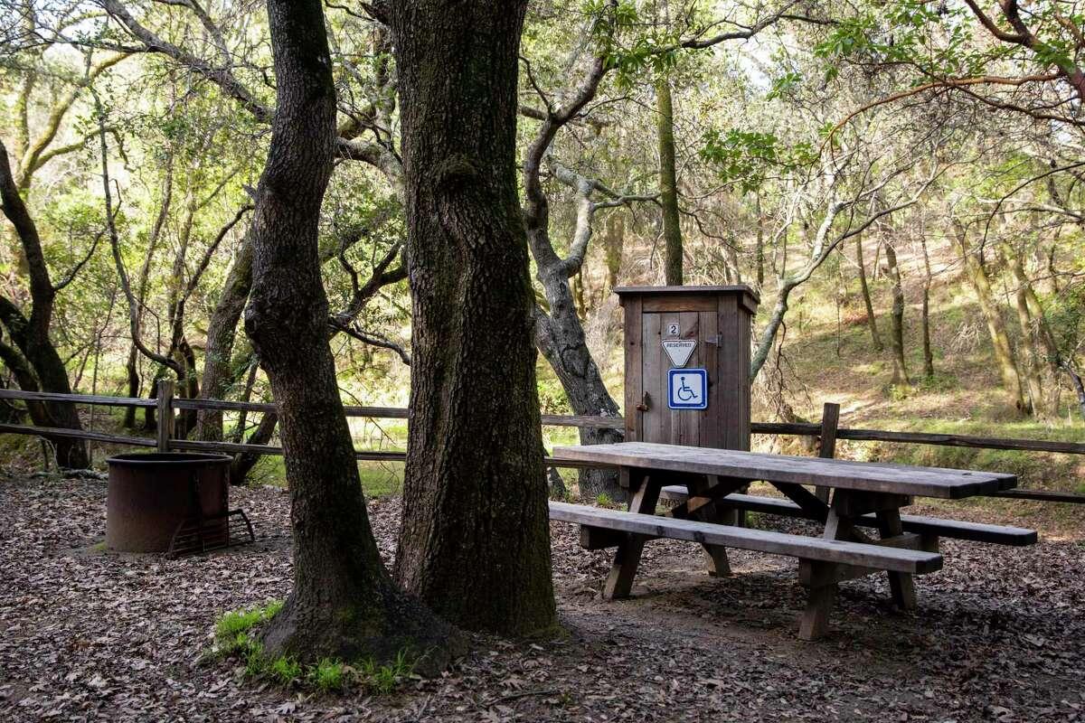 A campsite at China Camp State Park in San Rafael, Calif.