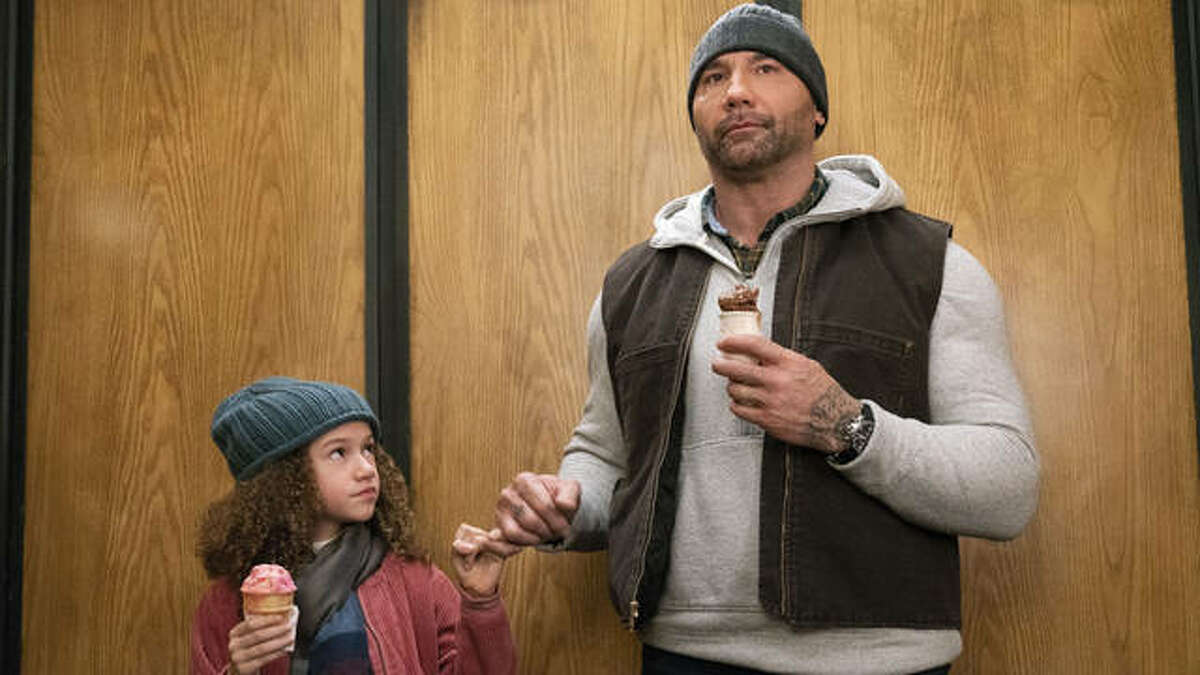 """""""My Spy"""" is a PG-13 action-comedy in which big 'n' brawny Dave Bautista plays a CIA man whose nose-diving career and damaged emotions are rehabilitated by a clever nine-year-old girl, Chloe Coleman, with an aptitude for espionage and a matchmaking plan for her widowed mom."""