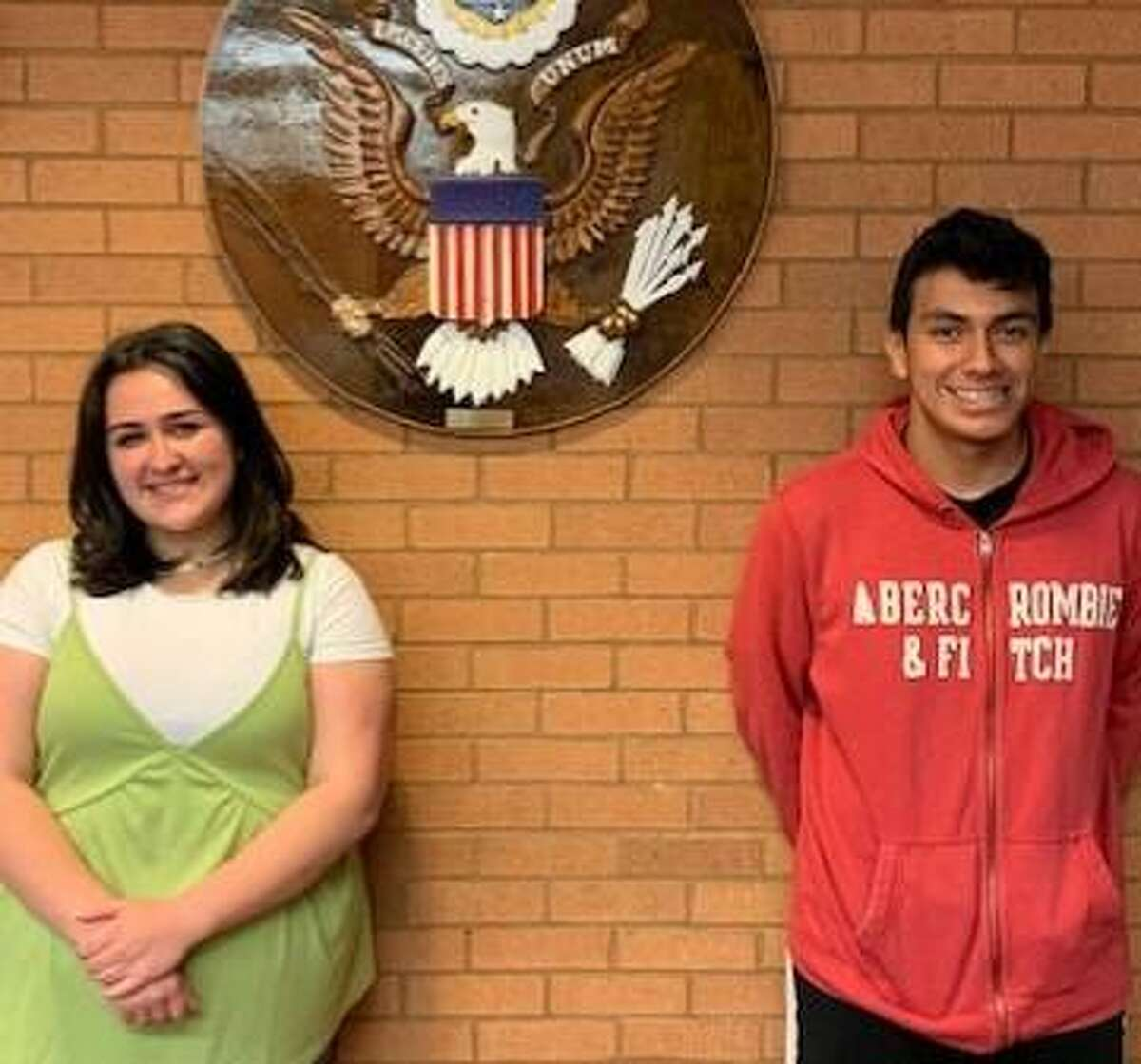 """Melaina """"Lainey"""" Roberto and Robert Quevedo each earned the Connecticut Association of Boards of Education Student Leadership Award."""
