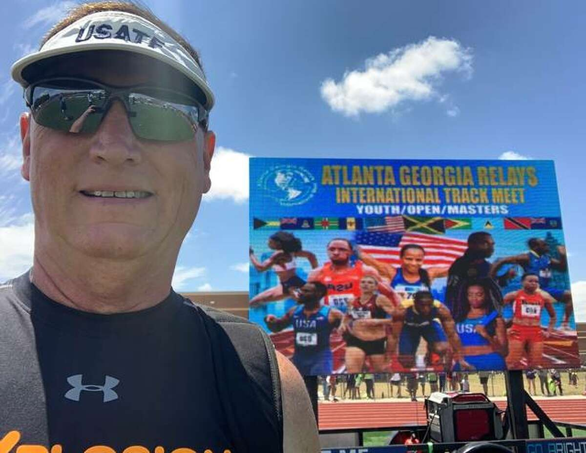 Wood River's Mike Young, 59, captured seven medals in eight events Memorial Day weekend at the Atlanta International Relays meet.
