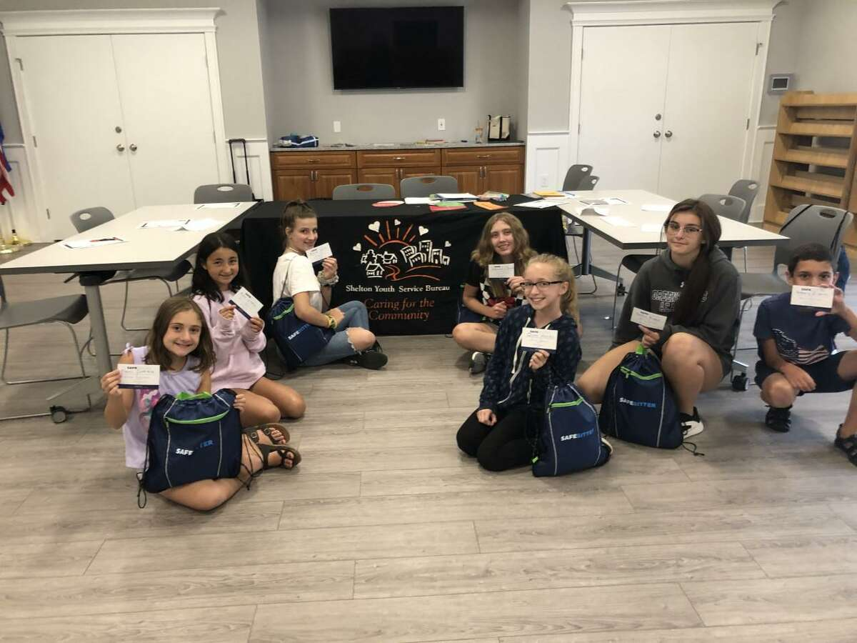 The Shelton Youth Service Bureau will be offering a Safe Sitter Class on June 23, 2021, at the Plumb Memorial Library. Above are past participants of the program held prior to the pandemic.