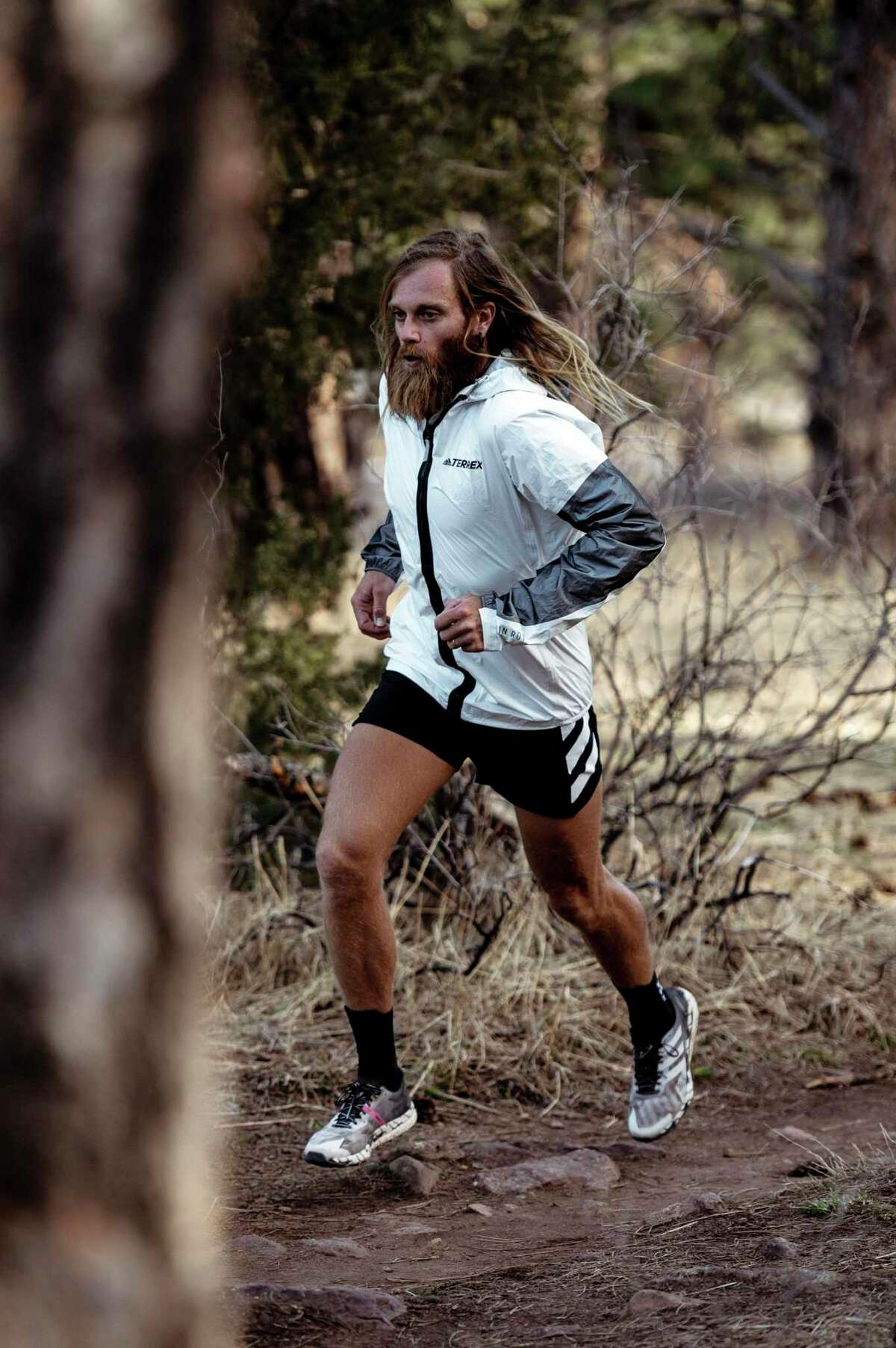 Ultra-runner Timothy Olson on the Pacific Crest Trail this year.