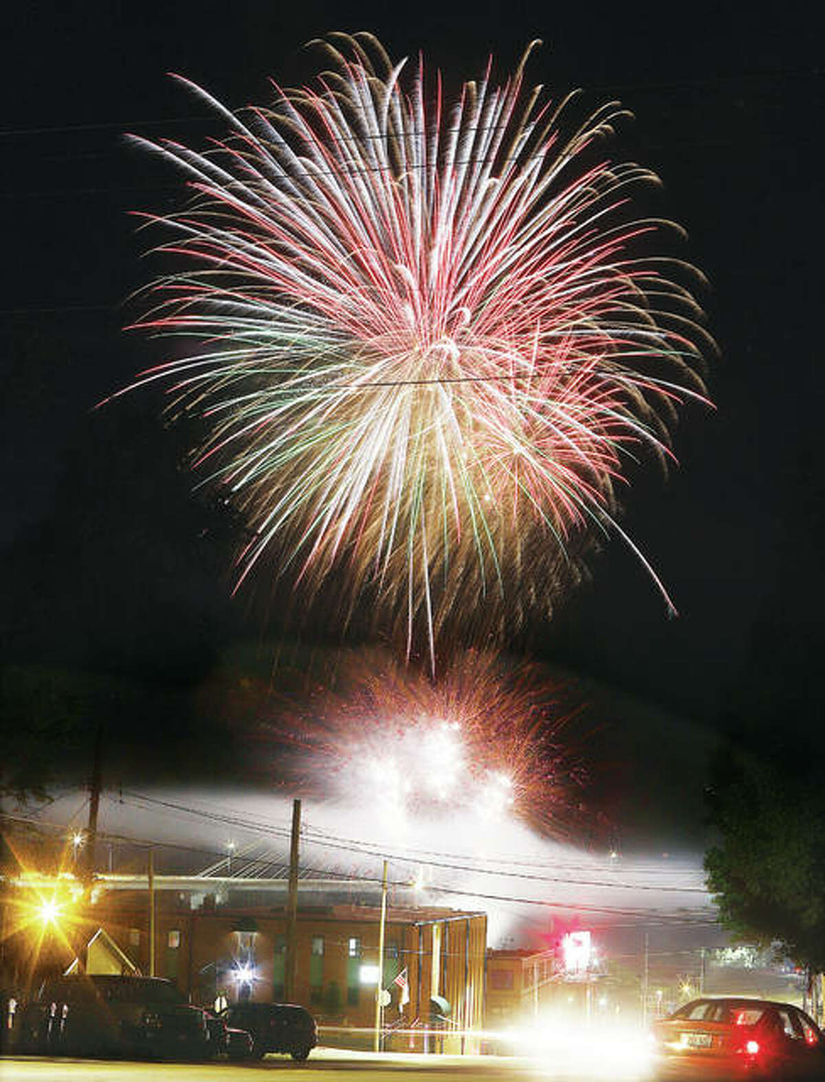 Additional photos from Thursday's fireworks and Night Market in Alton