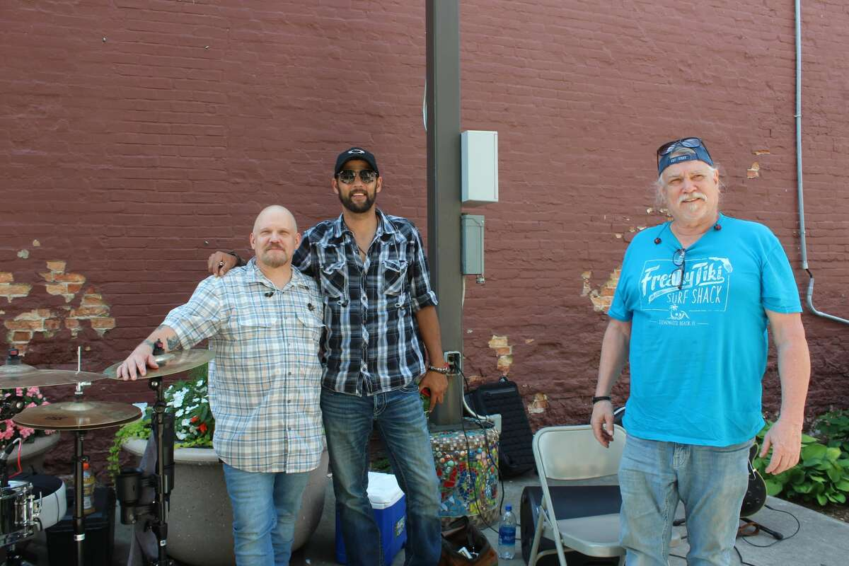 The country and classic rock band Whiskey Bound kicked off the Big Rapids Pocket Park music series on Friday afternoon outside of Raven Brewing & Barbeque downtown.