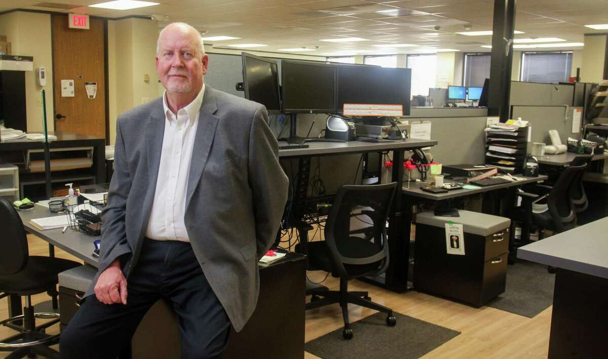 CEO Gary Buckland of Lexitas in their production facility in Houston on May 21, 2021. Lexitas is a business that serves the legal community with services that include record retrieval, court reporting, process service, registered agent, legal staffing, document review and commercial contracts outsourcing. It has been growing by buying smaller businesses across the country.