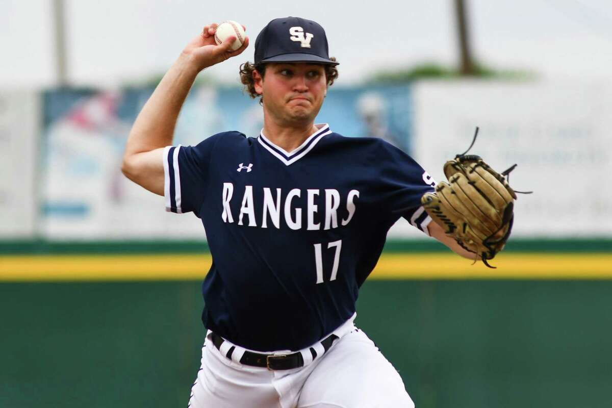 Smithson Valley's Brandon Taylor pitches in the bottom of the first inning of Friday's Region IV-6A playoff game on Thursday January 3, 2021 in Corpus Christi.