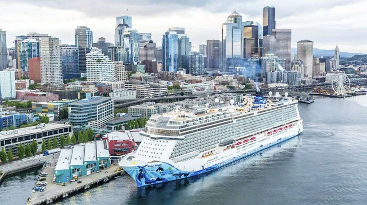 Norwegian Bliss in Seattle for inaugural sailing