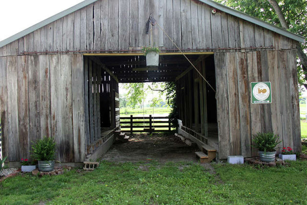 The farm's granary, located between the Lavender Shop and the greenhouse, is slated to become a duck habitat in the future.