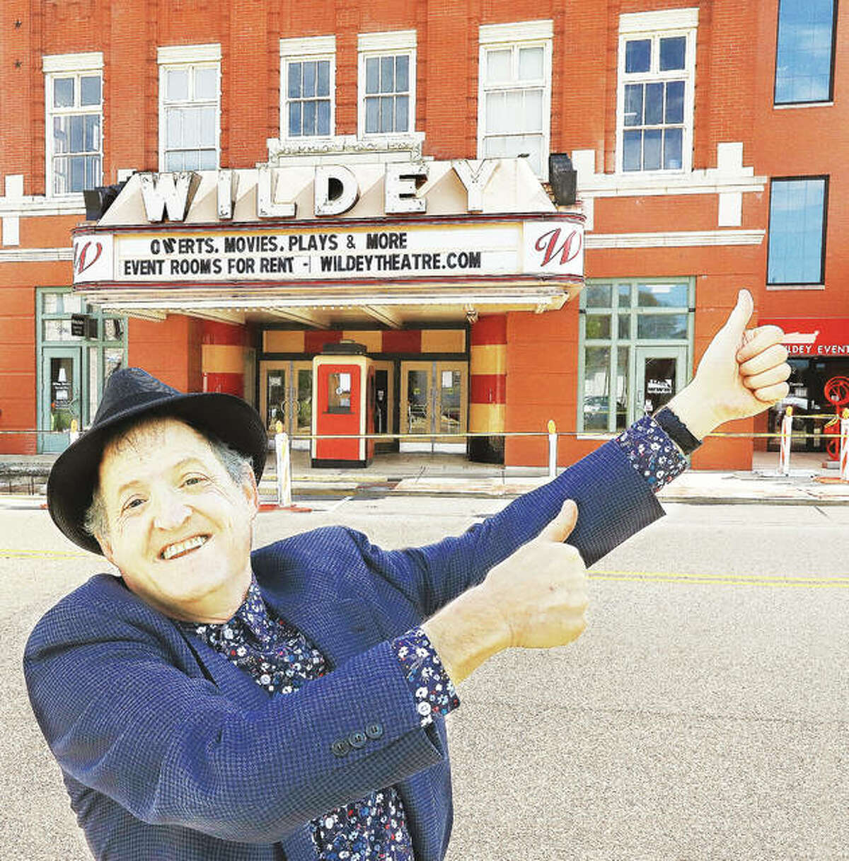 """Wildey Theatre manager Al Canal is welcoming back concertgoers, starting with """"Memories of Elvis"""" on June 10."""