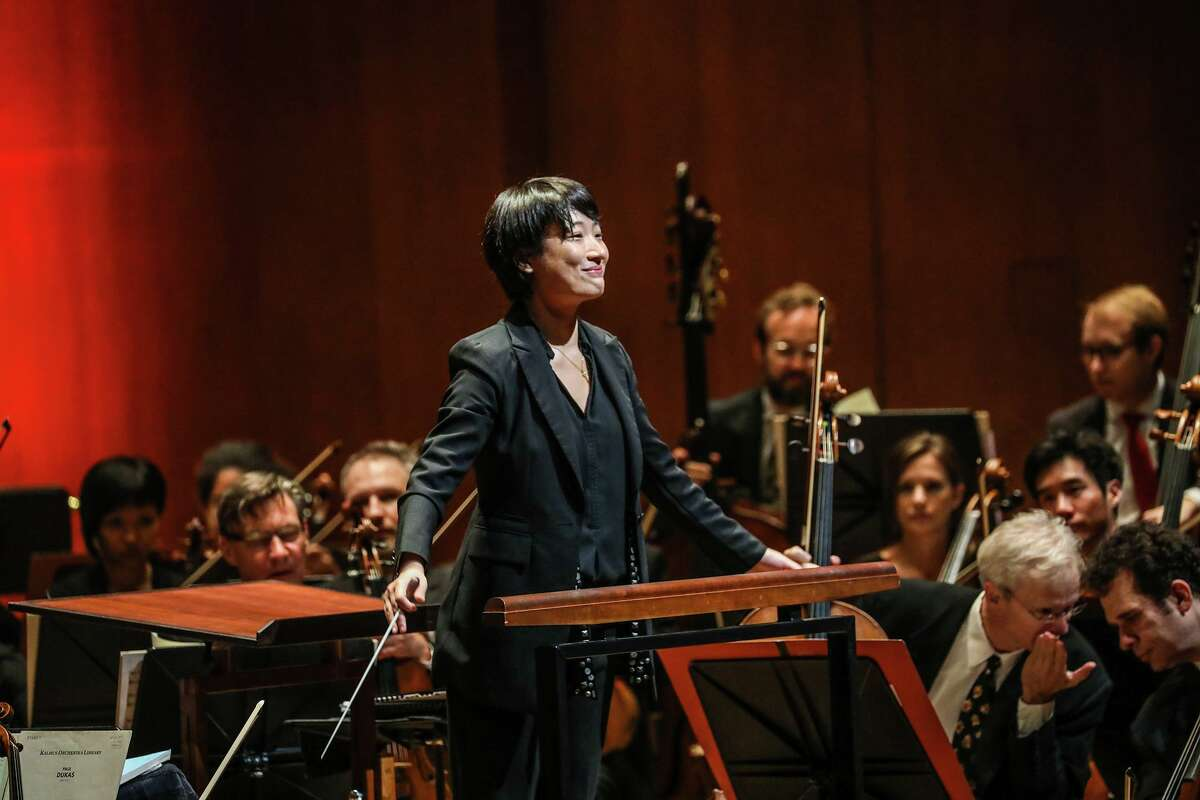 Shanghai-born conductor Yue Bao conducts the Houston Symphony.