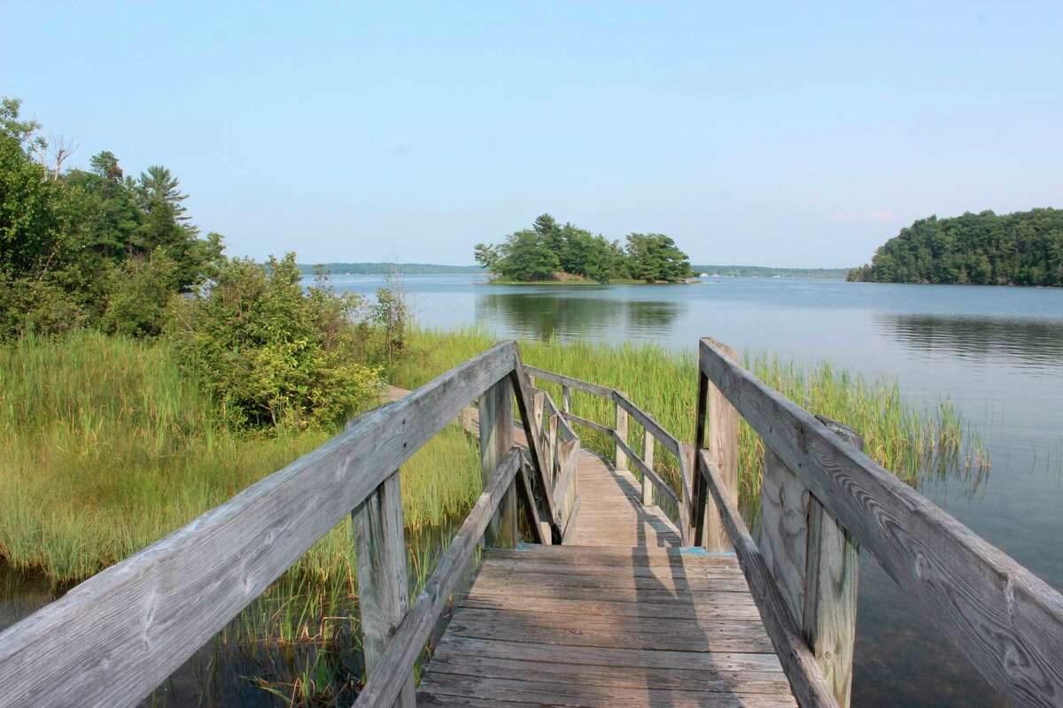 Pictured is Lost Lake and Island Loop Trailat Ludington State Park.Michigan Department of Natural Resourcesis hosting a Volunteer Stewardship Workday on June 12 at the state park toremove invasive speciesand restore natural areas. (File photo)