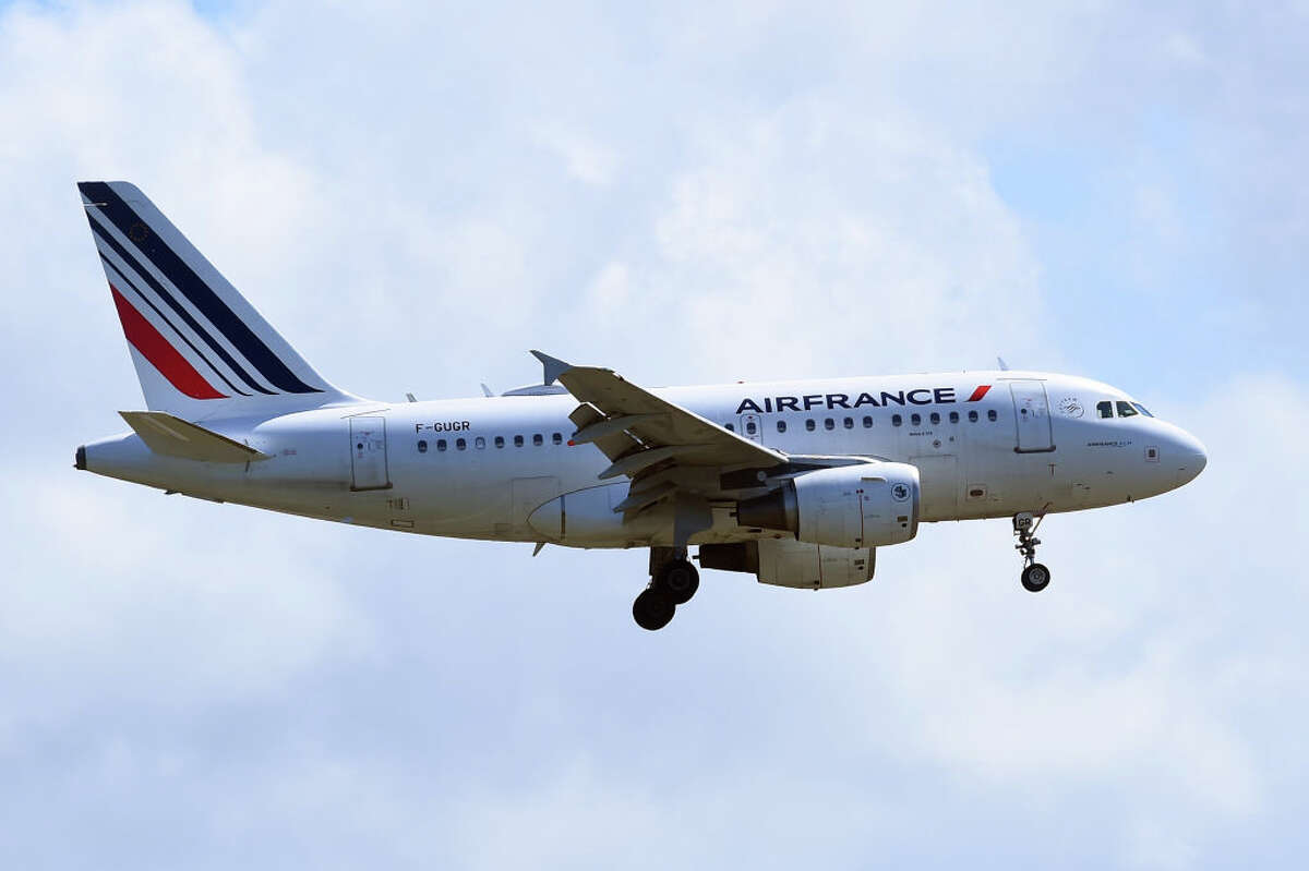 Aircraft at Fiumicino International Airport. Rome, Italy on May 13th, 2021.