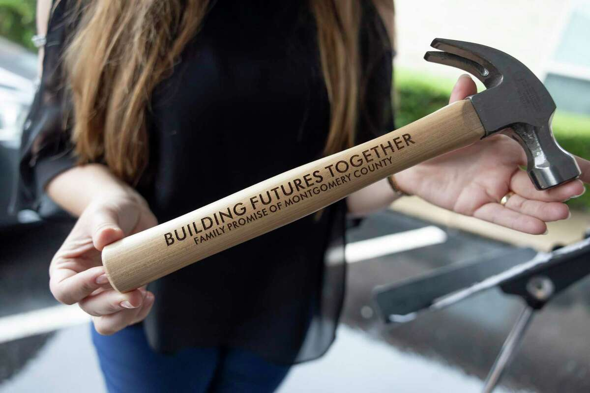 Custom hammers were given to sponsors and supporters during a renovation kickoff event, Thursday, May 3, 2021, in Conroe. The new facility will be an estimated 6,000-square-feet and renovations will begin mid-June.