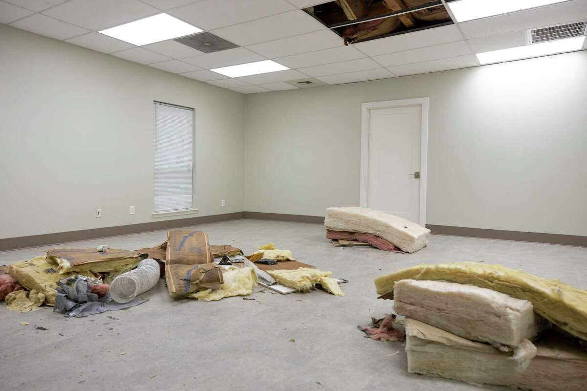 An empty room is seen during a renovation kickoff event hosted by Family Promise, Thursday, May 3, 2021, in Conroe. The new facility will be an estimated 6,000-square-feet and renovations will begin mid-June.