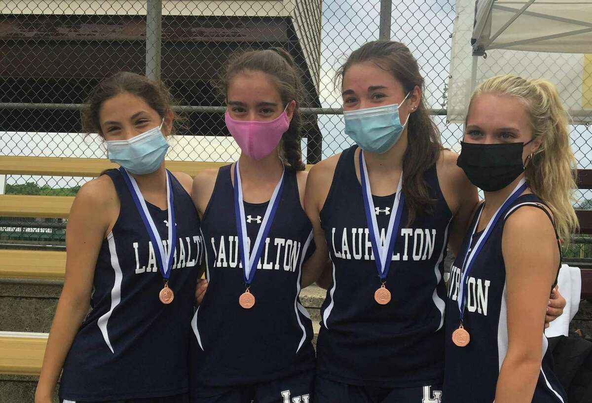 Katerina Koutouvides, Kelly Jones, Lauren Baisley and Carys Cook from Lauralton placed fourth in the 4x800 relay at the Class S championships.