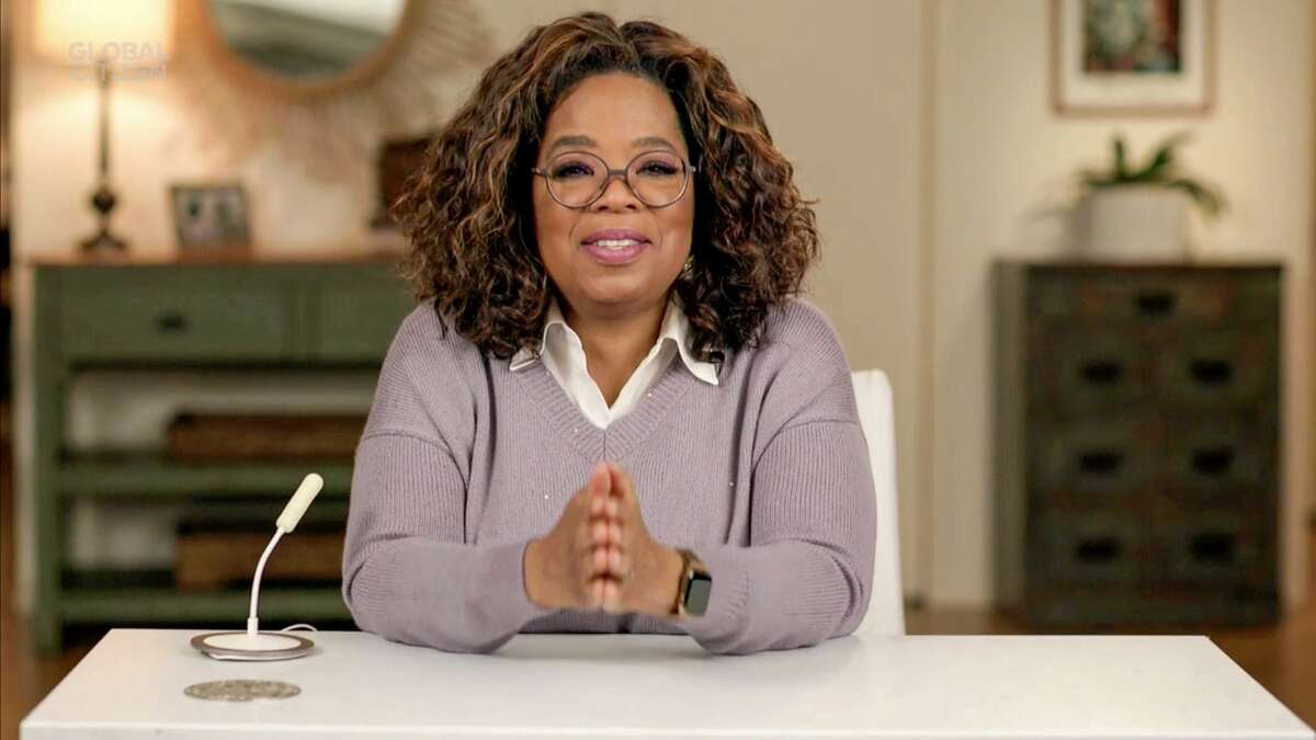 NEW YORK, NEW YORK - DECEMBER 19: In this screengrab released on December 19th Oprah Winfrey during Global Citizen Prize Awards Special Honoring Changemakers In 2020 Shaping The World We Want on December 19, 2020 in New York City. (Photo by Getty Images/Getty Images for Global Citizen)