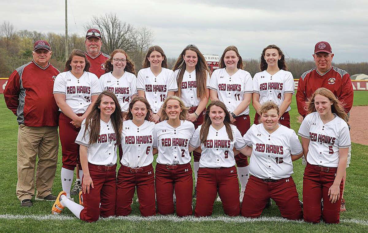 The 2020-2021 Cass City varsity softball team.