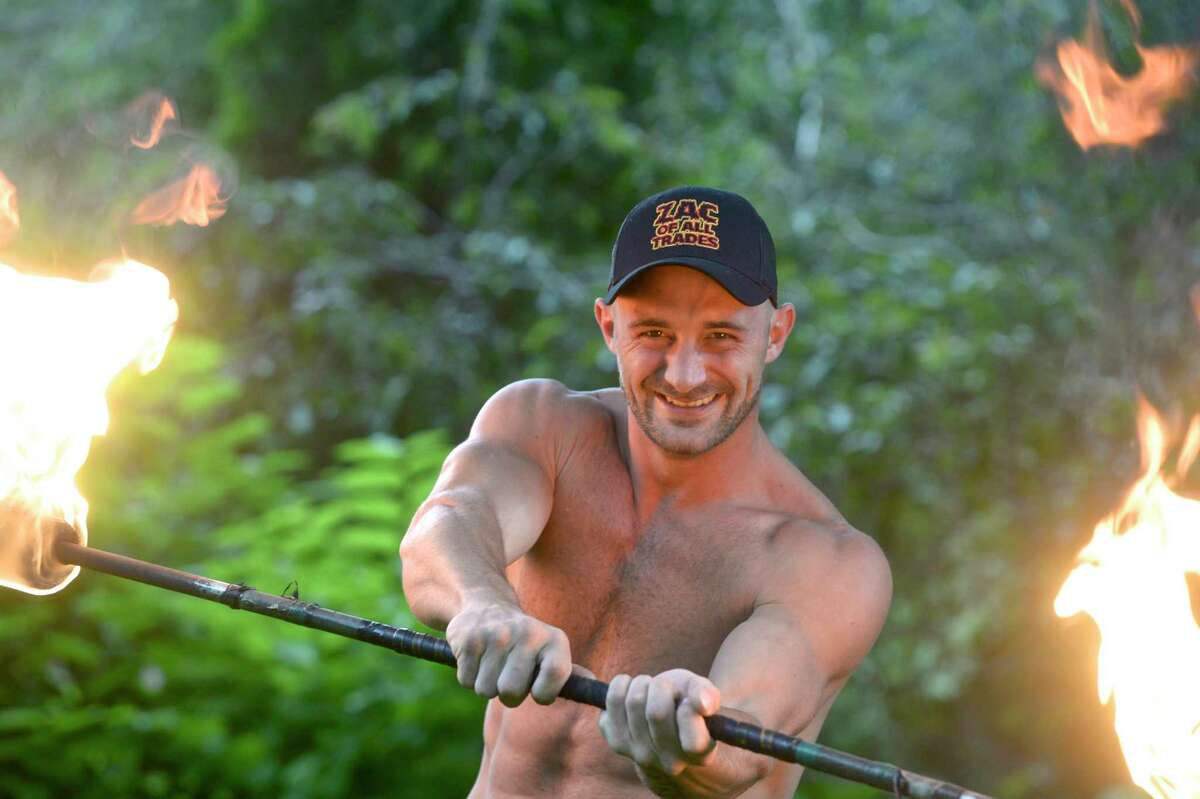 Zac Palazzo, of Ridgefield, is a Fire-bender that is competing in the 13th season of American Ninja Warrior. Friday afternoon, June 4, 2021, in Ridgefield, Conn.