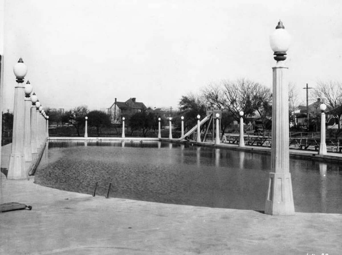 The Woodlawn Lake Park swimming pool in 1927, about two years after it opened.