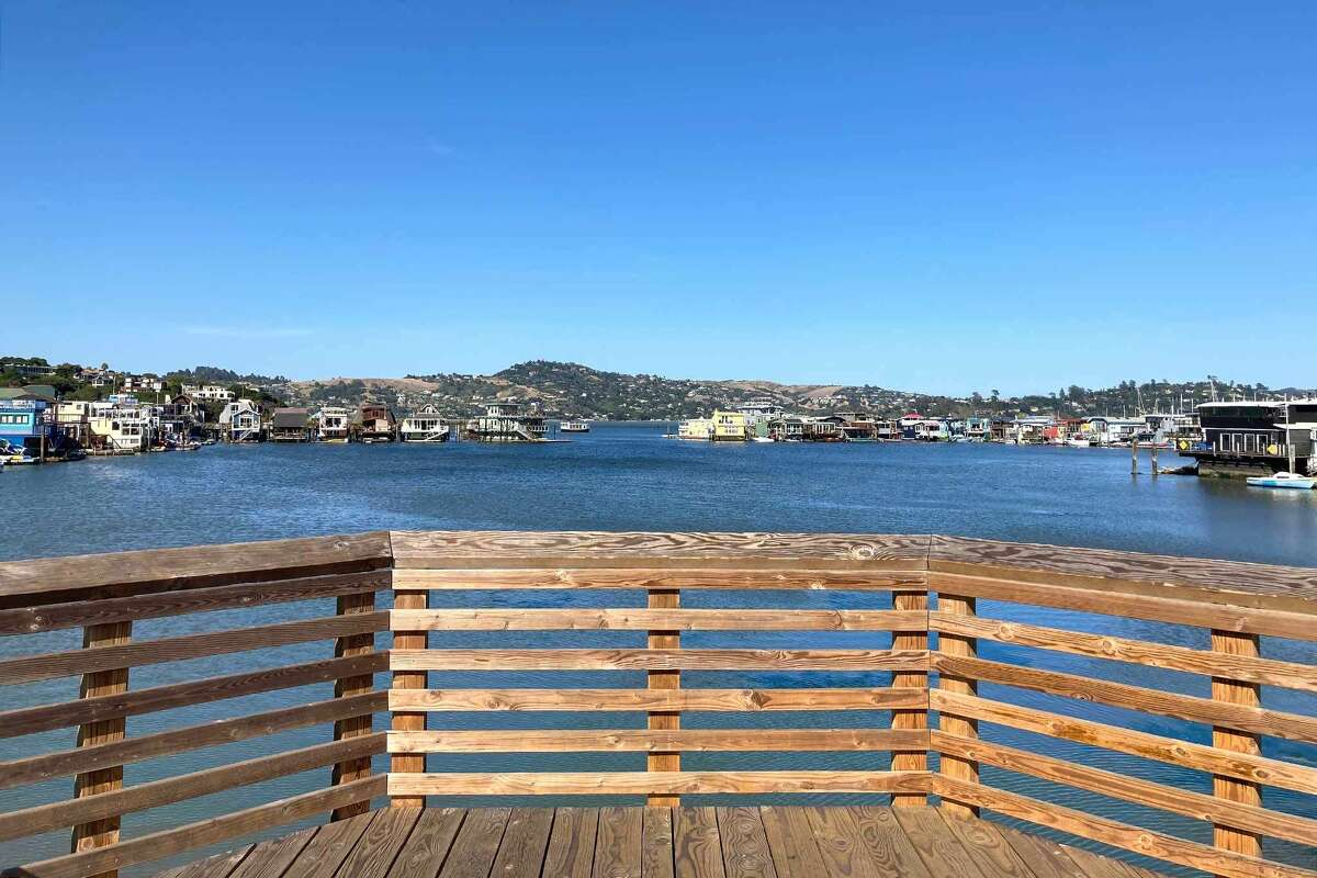 A view from a lookout point at the Waldo Point Harbor in Sausalito, Calif., where Otis Redding conceived the song