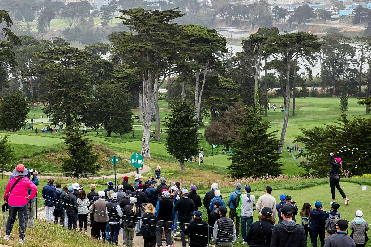 Paula Creamer hits off the No. 3 tee during Friday's second round of the U.S. Women's Open. This is the Olympic Club's first Women's Open after hosting five U.S. Opens on the men's side.
