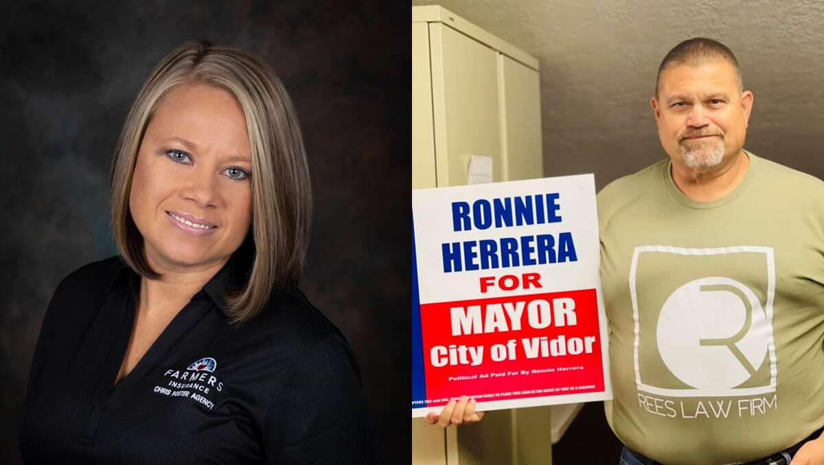 Misty Songe and Ronnie Herrera are vying to be Vidor's next mayor.