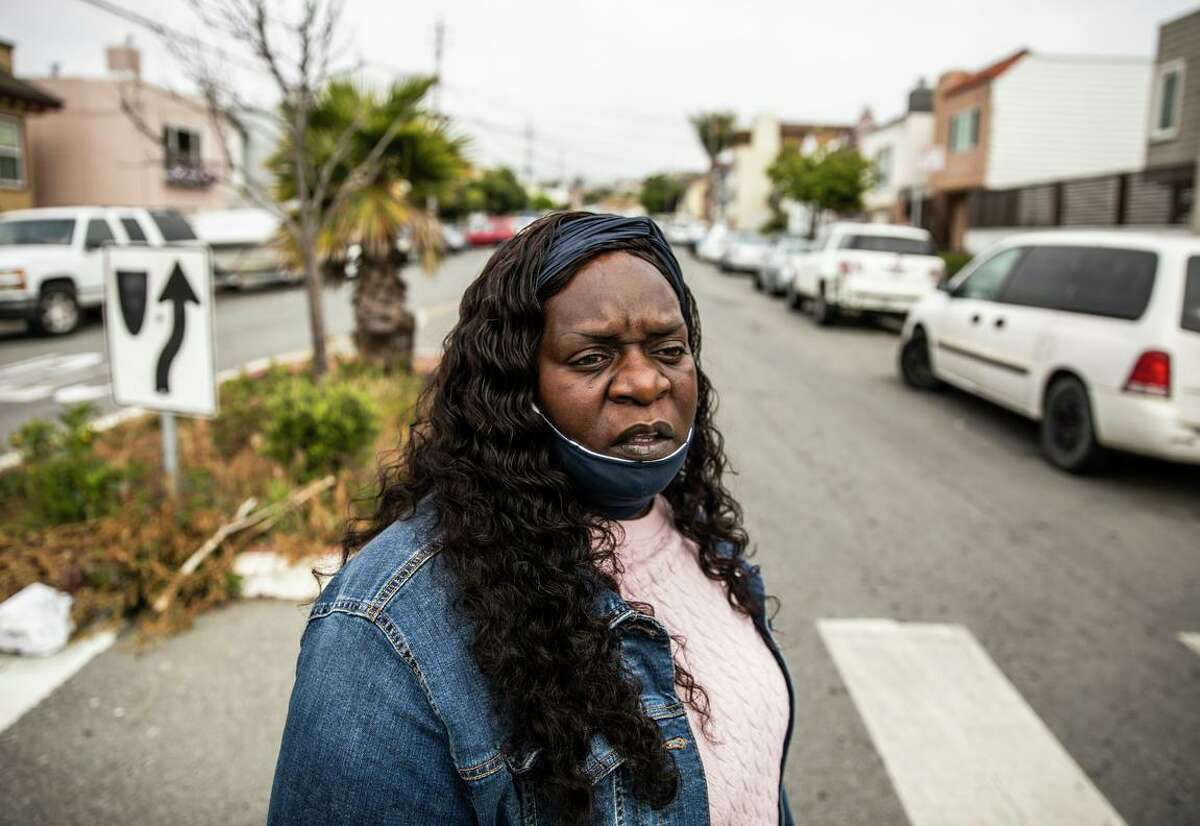 Community organizer and third- generation Bayview- Hunters Point resident Arieann Harrison is one of roughly 9,000 local residents who are trying to halt construction at the former shipyard.