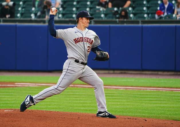 BUFFALO, NY - JUNE 4: Starting pitcher Zack Greinke #21 of the Houston Astros during the first inning against the Toronto Blue Jays at Sahlen Field on June 4, 2021 in Buffalo, New York. (Photo by Kevin Hoffman/Getty Images) Photo: Kevin Hoffman/Getty Images / 2021 Getty Images