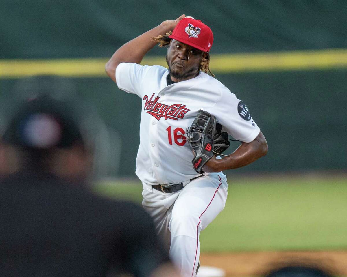 The Tri-City ValleyCats starting pitcher Carlos Sano against the New Jersey Jackals at the Joseph L. Bruno Stadium on the Hudson Valley Community College campus on Friday, June 4, 2021 (Jim Franco/Special to the Times Union)