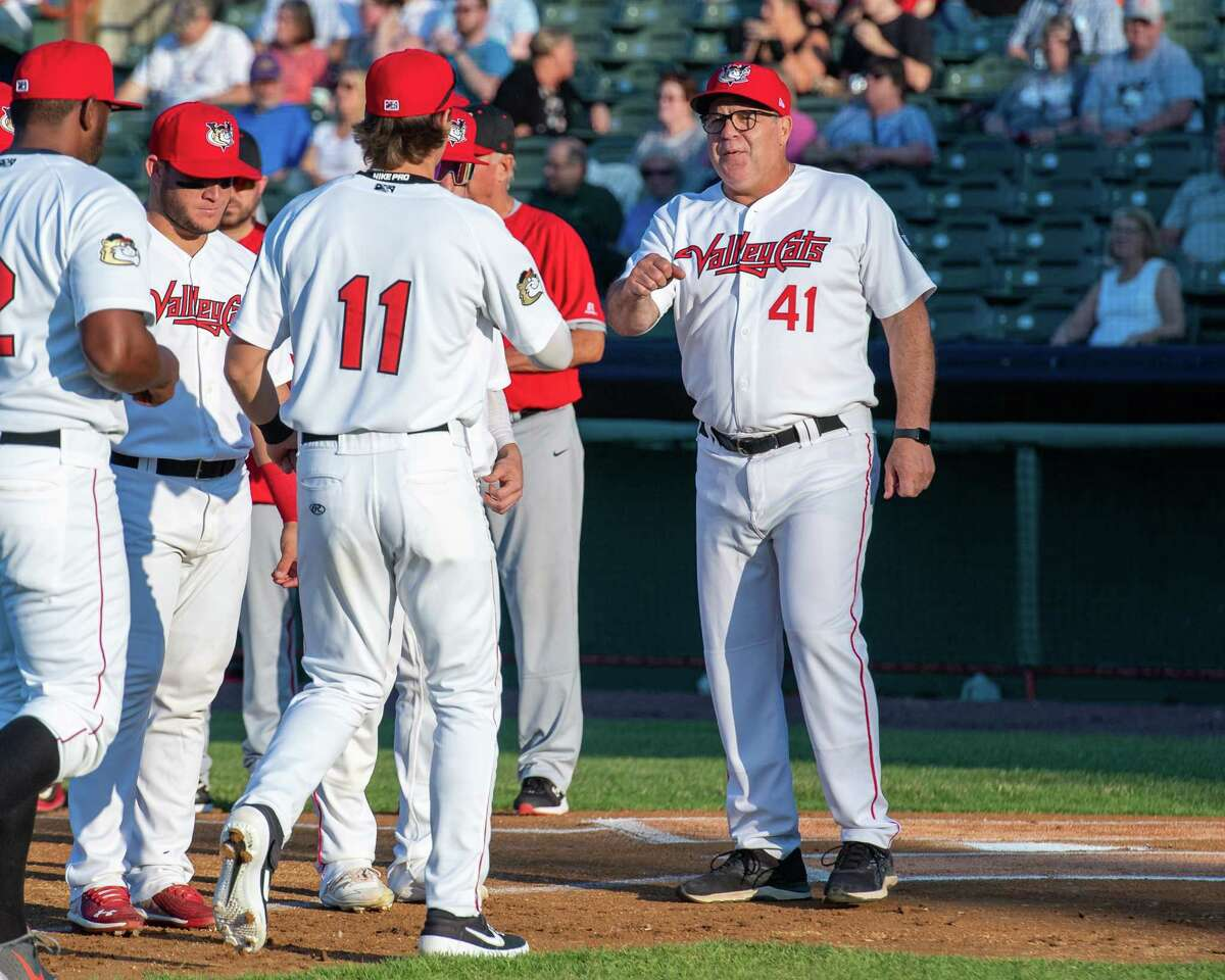 Tri-City's Pete Incaviglia (41) said the ValleyCats' 17-2 loss to New Jersey in the home opener on June 4, 2021 left him as embarrassed as he's ever been as a manager. (Jim Franco/Times Union)
