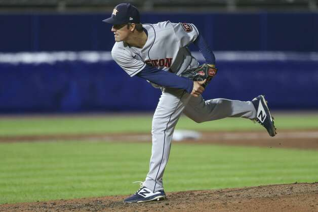 Houston Astros starting pitcher Zack Greinke throws during the ninth inning of a baseball game against the Toronto Blue Jays in Buffalo, N.Y., Friday, June 4, 2021. (AP Photo/Joshua Bessex) Photo: Joshua Bessex/Associated Press / Copyright 2021 The Associated Press. All rights reserved