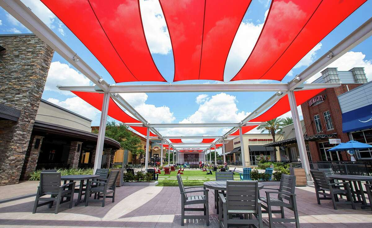 To help support small businesses and the local economy, the City of Sugar Land is looking for placemaking ideas like this area on the First Colony Mall lawn.