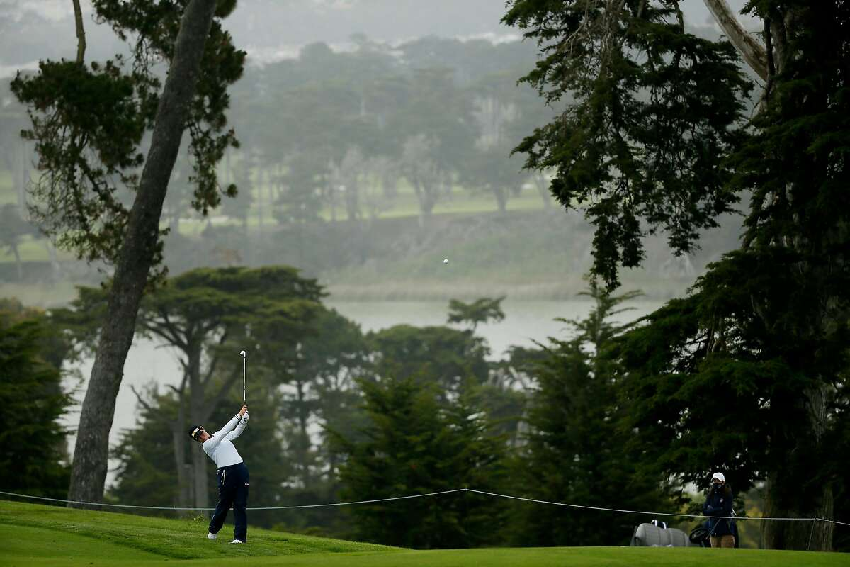 Yuka Saso of the Philippines hits out of the rough on the second hole of the Lake Course during the second round of the 76th U.S. Women's Open Championship at the Olympic Club, Friday, June 4, 2021, in San Francisco, Calif.
