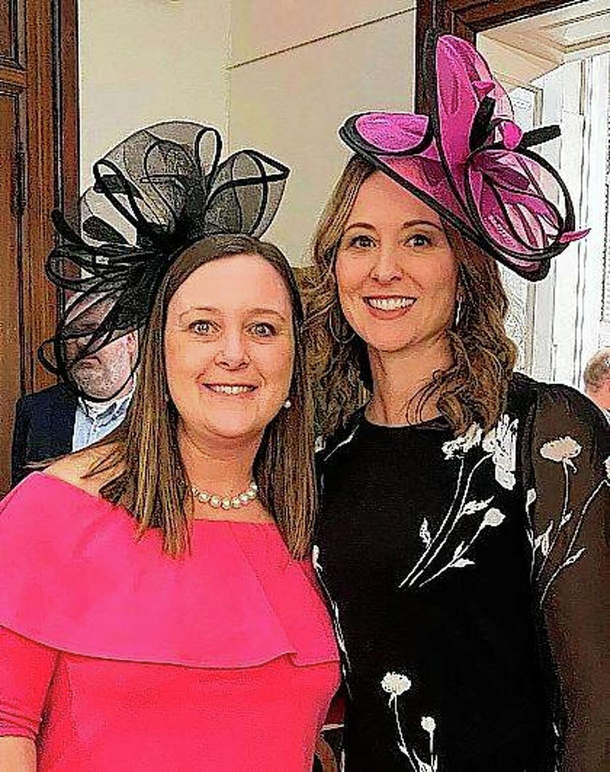 """Megan Langdon McGuire (left) and Sara Schumacher are co-chairs for the Art Association of Jacksonville's 2021 Beaux Arts Ball. The pair picked the Kentucky Derby-inspired theme, """"Run for the Roses."""""""