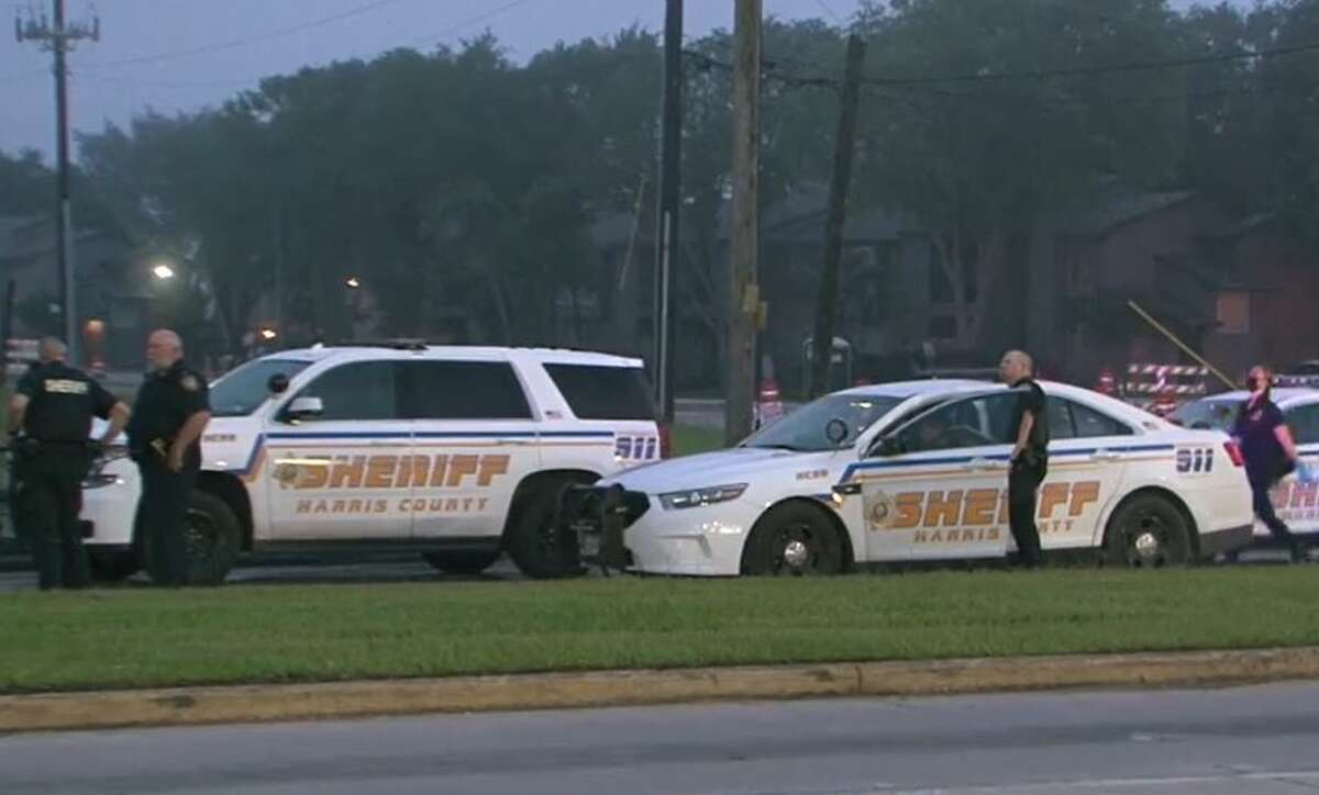 Deputies with the Harris County Sheriff's Office investigating a fatal hit-and-run early Saturday.