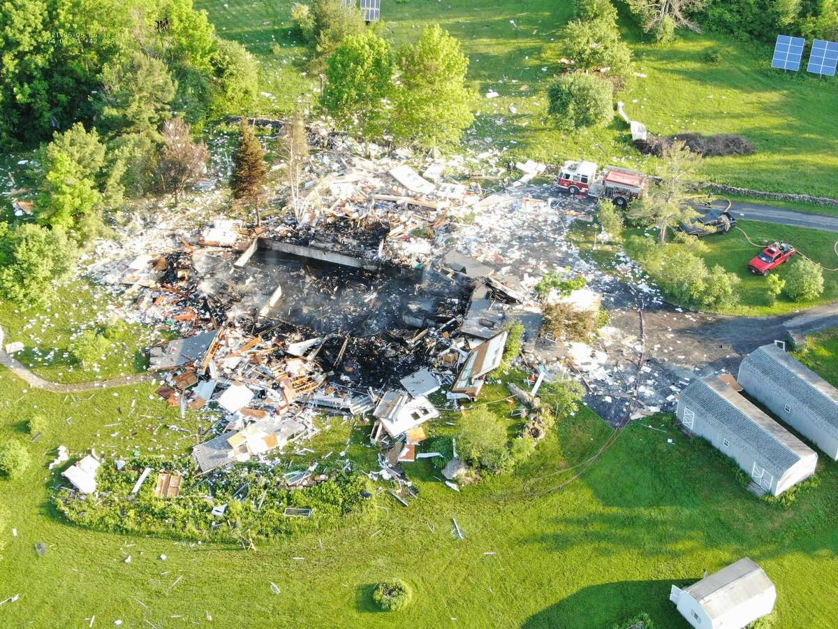 The explosion that ripped through the 5,600-square-foot home at 1470 Hilltop Lane in East Berne, N.Y., on Friday June 4, 2021, killed two people and reduced the structure to rubble.