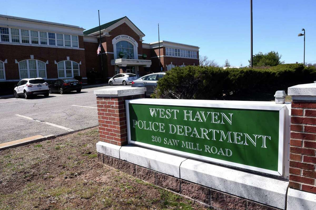 The West Haven Police Department photographed on April 6, 2021.