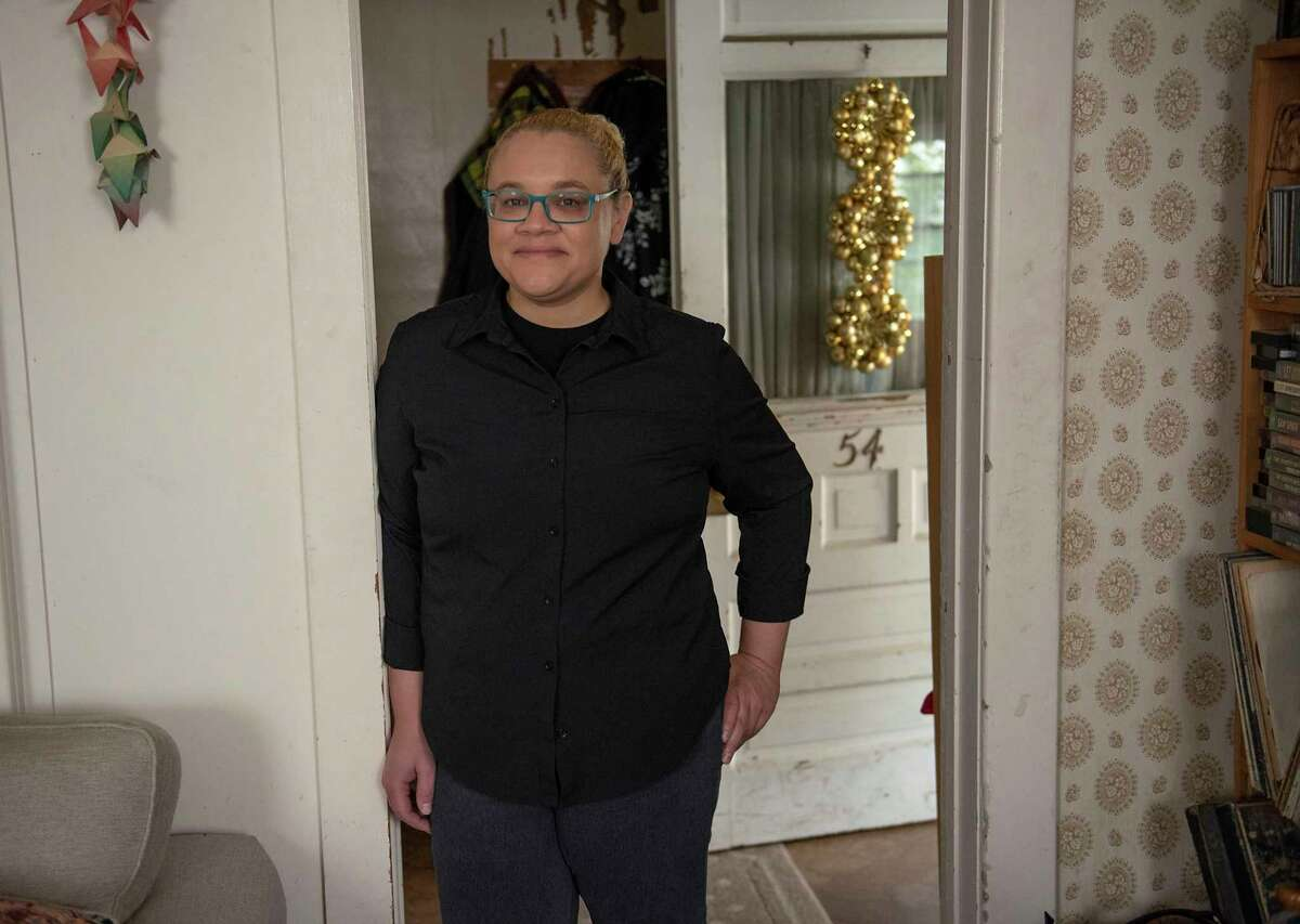 Sarah Stewart is seen inside her parents home on Friday, June 4, 2021 in Albany, N.Y. Sarah previously worked driving for Uber and Lyft before the pandemic and wants to find a different job now. (Lori Van Buren/Times Union)