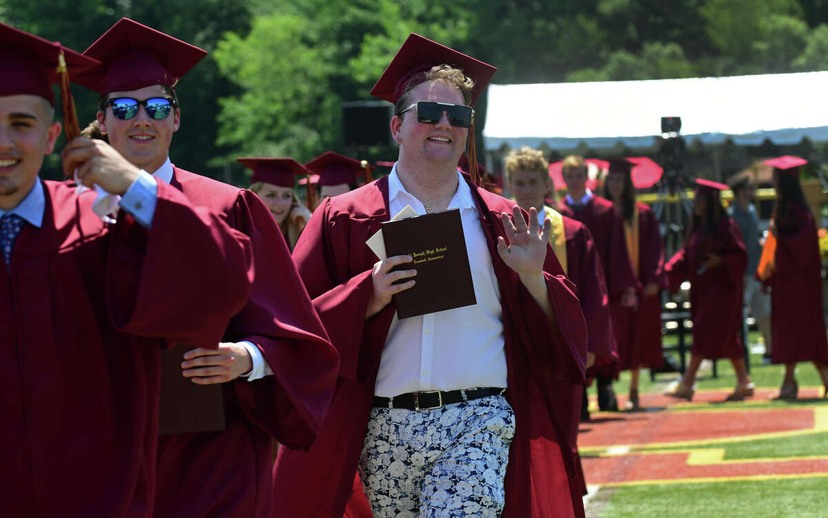 St. Joseph High School celebrates their Class of 2021 commencement Saturday, June 5, 2021, in Trumbull, Conn.
