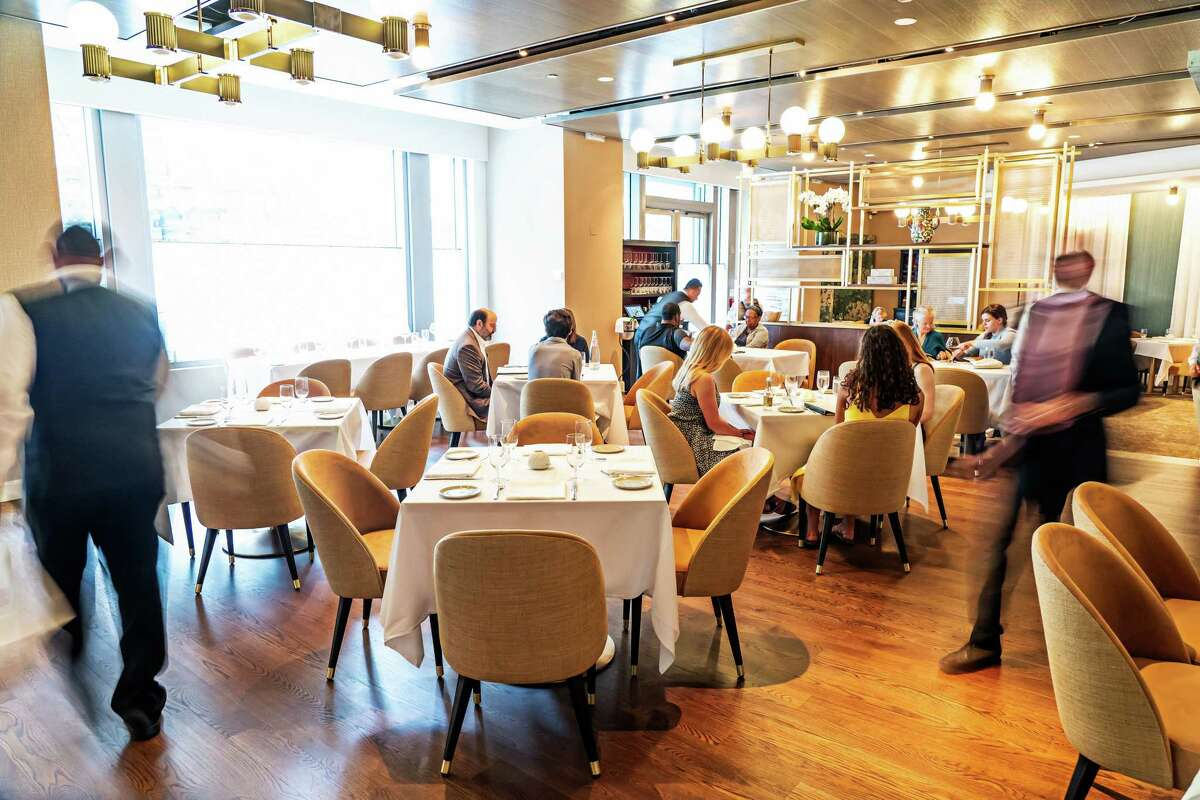 The dining room at Tosca restaurant on May 28, 2021, in Washington, DC.